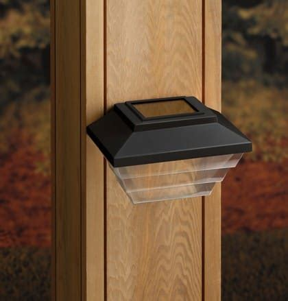 solar post  stair lights  deckorators  deck store