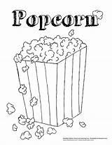 Popcorn Coloring Pages Coloringtop sketch template