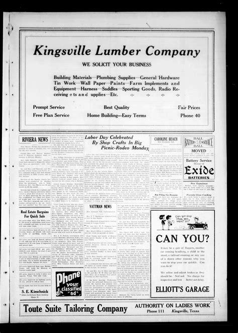 kingsville record kingsville tex vol