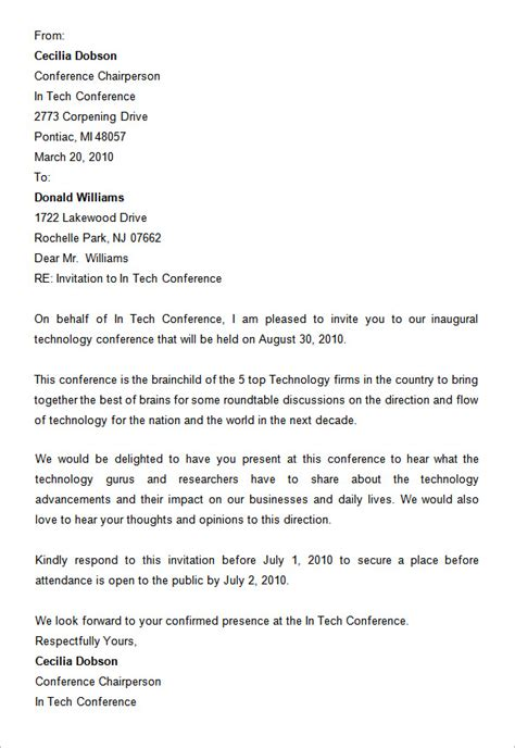 conference invitation templates psd ai