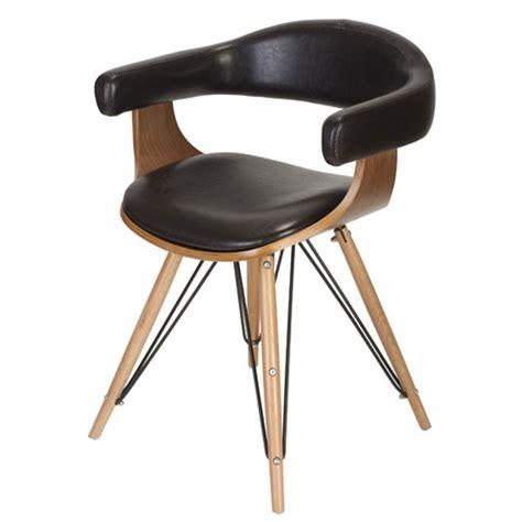 la chaise de bois fauteuil en bois bambou esprit cuir kubrick la chaise