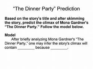 35 The Dinner Party By Mona Gardner Plot Diagram