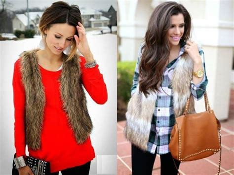 Fur Vest Street Style For Woman