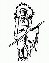 Coloring Indian Pages Chief sketch template