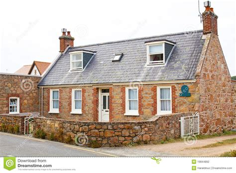 typical house on the channel island of jersey stock