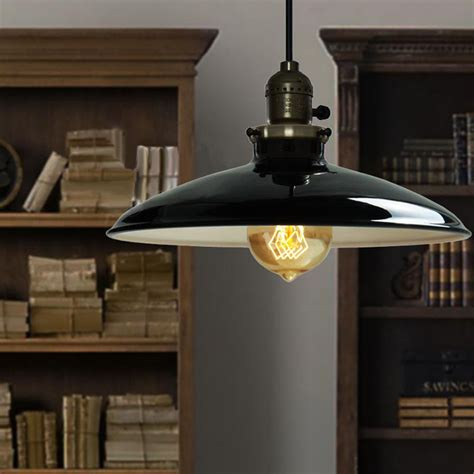 retro industrial iron vintage pendant lamp drop light fixture ceiling lampshade  dining room