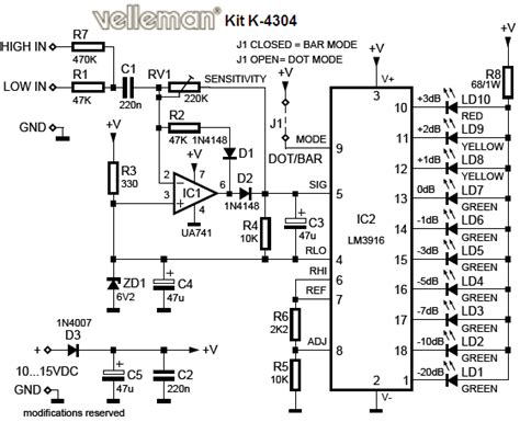 electronic circuit collection vu led indicator schematic