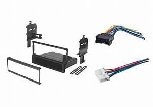 Single Din Install Stereo Dash Kit Male Female Wire