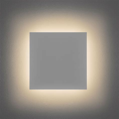astro eclipse 300 square 3000k plaster led wall light at uk electrical supplies