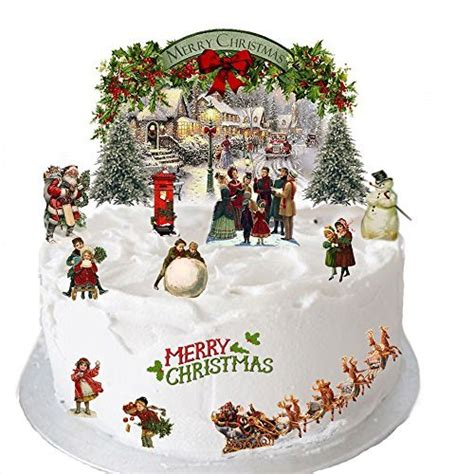christmas cake decorations amazoncouk