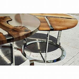 Table En Bois Et Resine : table basse ronde de salon design bois et r sine produit italien sole ~ Dode.kayakingforconservation.com Idées de Décoration