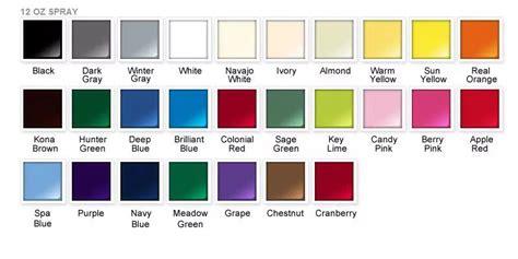 rustoleum shade card spray paint my world paint color