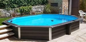 Piscine Hors Sol Composite : piscine hors sol composite ovale 8 04 x 3 86 x 1 24 m ~ Dode.kayakingforconservation.com Idées de Décoration