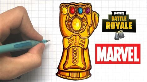 tuto dessin gant de thanos fortnite youtube