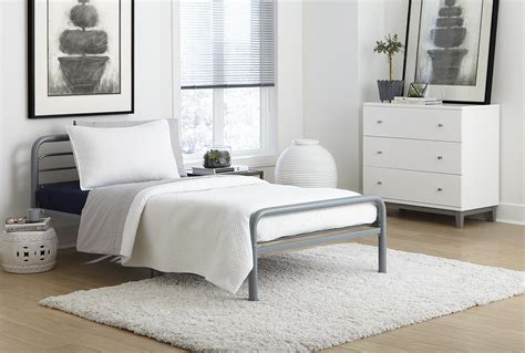 futon mattress sizes metal size bed with tubing silver dhp furniture