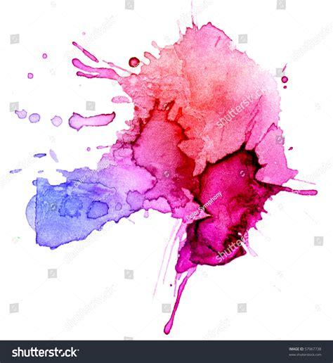watercolor blot background raster illustration stock