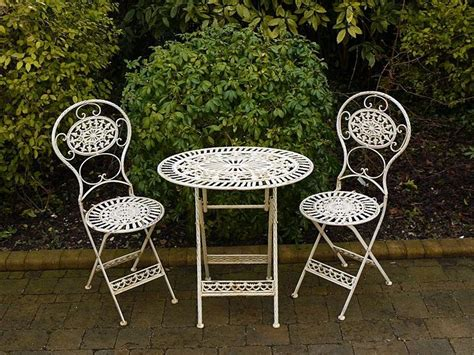 Small Outside Table And Chairs by Folding Metal Garden Furniture 2 Chairs Oval Table Bistro