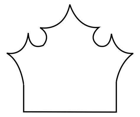 tiara template princess crown stencil clipart best