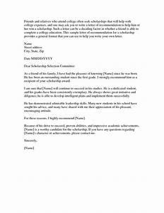 Letter Of Remendation For Scholarship  bbqgrillrecipes
