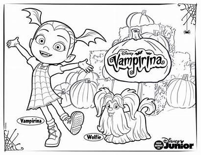 Vampirina Coloring Pages Disney Printable Wolfie