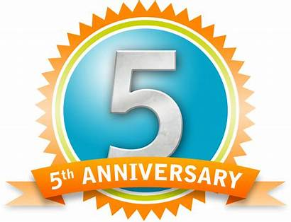 Thank Anniversary 5th Retro Clip Clipart Fifth
