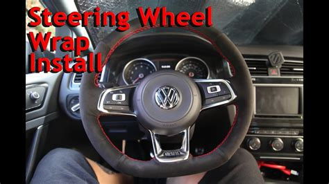 MK7 GTI Steering Wheel wrap install - YouTube