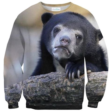 bear sad face sweater google shelfies smile
