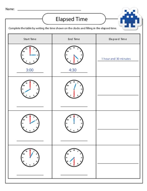 elapsed time worksheets to print for kids activity shelter
