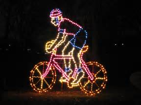 mid life cycling lights santas snow and bikes