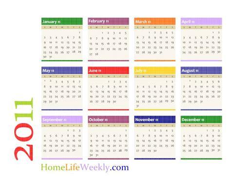 printable calendar  home life weekly