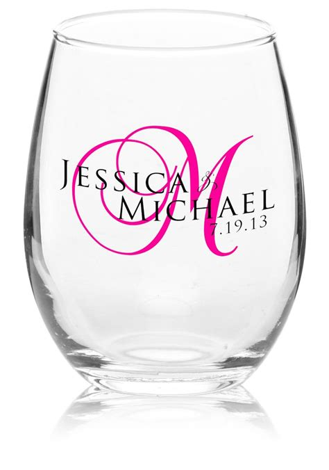 Personalized Barware Glasses by 25 Best Ideas About Wedding Wine Glasses On