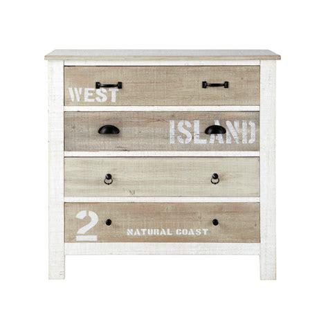 couleur de chambre ado fille commode en bois blanche l 90 cm noirmoutier maisons du monde
