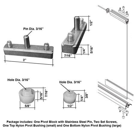 pivot shower door parts replacement pivot assembly kit for swing shower doors