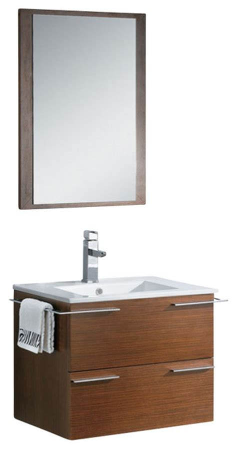 24 inch single sink bath vanity wenge brown