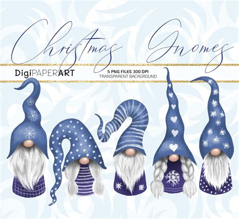 The color can be easily edited to anything you like. Christmas Gnomes Clipart Scandinavian Nisse Clip Art ...