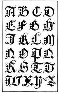 20 best Calligraphy fonts and old English alphabets images on Pinterest   Old english font