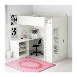 stuva loft bed combo w 2 shelves 2 doors white 207x99x193