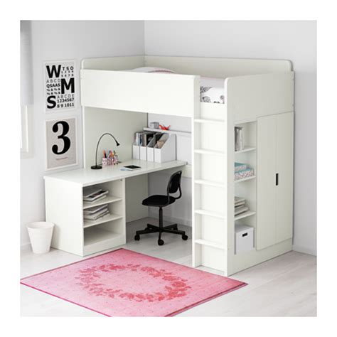 Loft Bed Ikea by Stuva Loft Bed Combo W 2 Shelves 2 Doors White 207x99x193