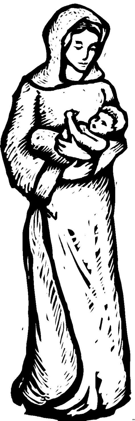 mutter maria mit jesus ausmalbild malvorlage religion