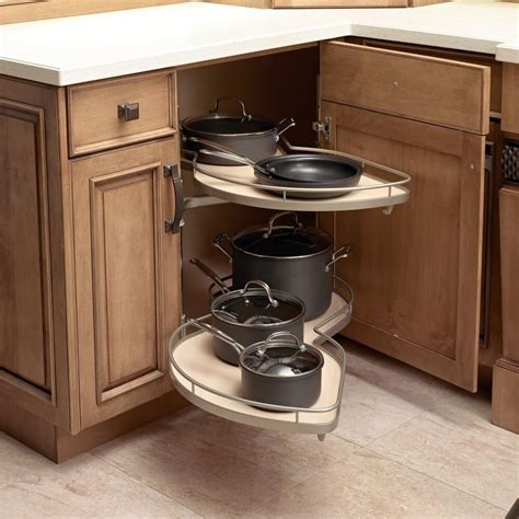 Kitchen Cupboard Corner Storage by Le Mans Ll Blind Corner Pull Out Lazy Susan In Chrome And
