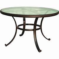 great round glass patio table Darlee Classic 48-Inch Cast Aluminum Patio Dining Table ...