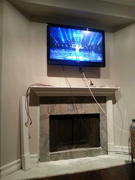hide  electrical wires   big screen tv