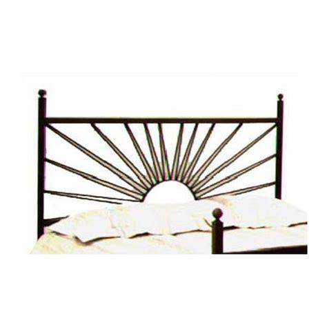 buy el sol wrought iron headboard metal finish satin black size twin
