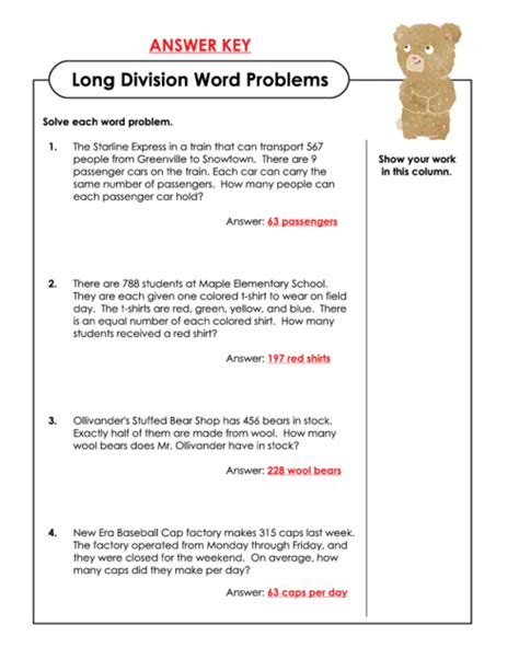 Division Worksheets » Division Worksheets Word Problems  Free Printable Worksheets For Pre