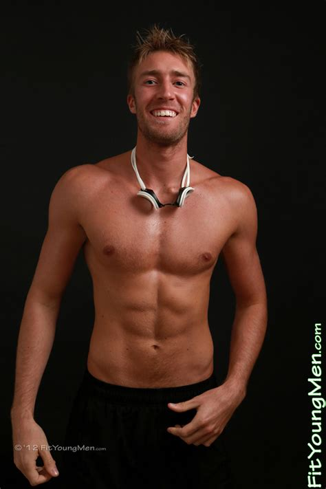 Fit Young Men Model Josh Hathaway Swimmer Tanned Toned Playful Josh With Quite The Equipment