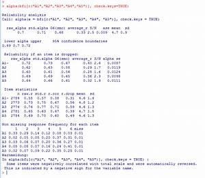 Reliabilität Berechnen : r cronbachs alpha datenanalyse mit r stata spss ~ Themetempest.com Abrechnung