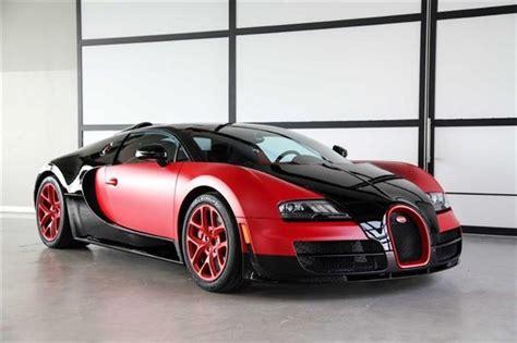 Unique Matte Red Bugatti Veyron Grand Sport Vitesse For