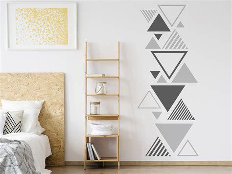 Wandtattoo Kinderzimmer Dreiecke by Wandtattoo Moderne Dreiecke Wandtattoo De