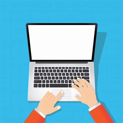 Typing Laptop Screen Text Clipart Blank Vector