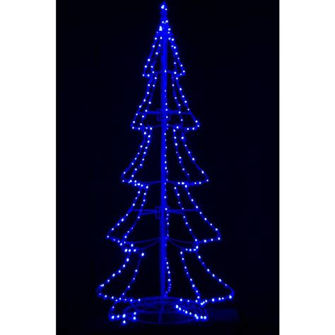 8 ft pre lit led 3d silhouette tree with 300 blue lights